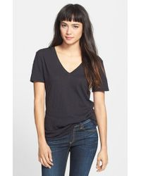 Rag & Bone | Black 'the Classic V' Cotton Tee | Lyst