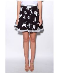 Elle Sasson - Black Tina Cat Skirt - Lyst