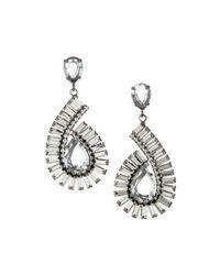 R.j. Graziano | White Swirling 70s Glam Drop Earrings | Lyst