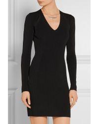 Rag & Bone - Galina Cutout Ribbed-knit Mini Dress - Black