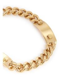Ela Stone | Metallic 'Heidi' Metal Plate Curb Chain Necklace | Lyst