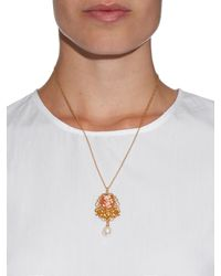 Dolce & Gabbana - Metallic Cameo Embellished Necklace - Lyst
