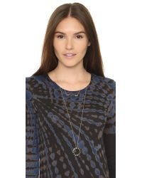 House of Harlow 1960 - Metallic Modern Revival Bar Necklace - Lyst
