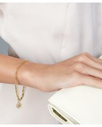 Astley Clarke | Metallic Gold-plated Cosmos Biography White Sapphire Bracelet | Lyst