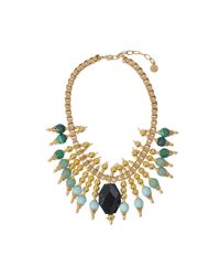 Ela Stone | Black Michelle Collar Necklace | Lyst
