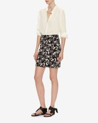 L'Agence - Natural Bianca Collar Blouse - Lyst
