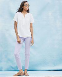 NYDJ - Purple Clarissa Cropped Skinny Jeans - Lyst
