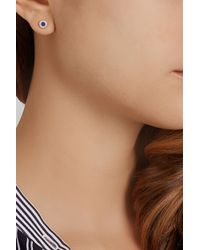 Jennifer Meyer Metallic 18-Karat Gold, Lapis Lazuli And Diamond Earrings