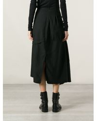 Marc Le Bihan - Black Asymmetric Skirt - Lyst