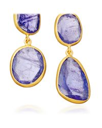 Pippa Small - Purple Tanzanite Double Collette Earrings - Lyst