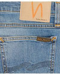 Nudie Jeans Light Blue Tight Long John Organic Denim Jeans L32 for men