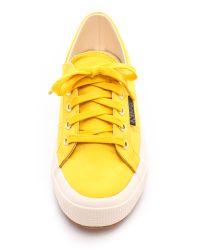 Superga The Man Repeller X Satin Classic - Mustard Yellow