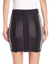 Opening Ceremony - Black Mowed Lines Mini Pencil Skirt - Lyst