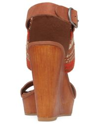 Lucky Brand Brown Women's Lapaloma Platform Wedge Sandals