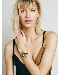 Free People | Metallic Crystal Cave Cuff | Lyst