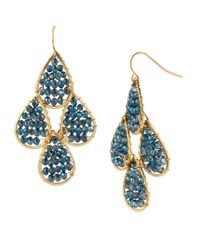 Kenneth Cole | Blue New York Silver-tone Woven Bead Teardrop Earrings | Lyst