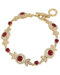Carolee | Metallic Oval Stone Crystal Flexible Bracelet | Lyst