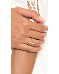 Michael Kors - Metallic Matchstick Ring Goldclear - Lyst