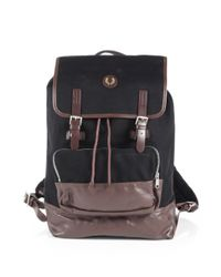 Fred Perry Red Cotton Rucksack for men