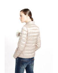Liu Jo | Gray 'lyon' Short Quilted Jacket | Lyst