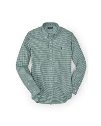 Polo Ralph Lauren | Green Slim-fit Gingham Cotton Shirt for Men | Lyst