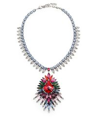 DANNIJO | Multicolor Valeria Crystal Statement Pendant Necklace | Lyst