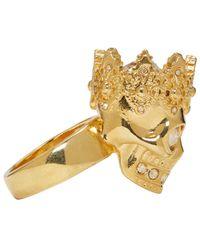 Alexander McQueen - Metallic Gold King Ring - Lyst