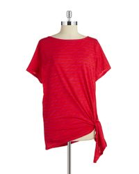 MICHAEL Michael Kors | Red Striped Tie Top | Lyst