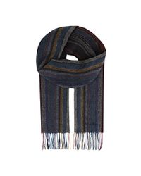 Paul Smith - Multicolor Striped Wool Scarf for Men - Lyst