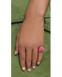Marc By Marc Jacobs Pink Rubberized Jerrie Rose Ring - Bright Rose
