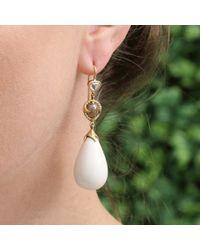 Sylva & Cie - Metallic Large Mammoth Drop Earrings - Lyst
