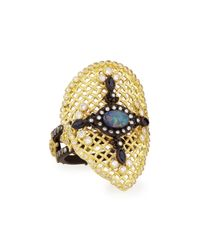 Armenta | Metallic Old World Mesh Pear Ring | Lyst