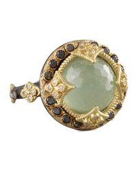 Armenta | Green Turquoise & Black Diamond Crivelli Ring | Lyst