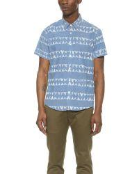 RVCA Blue Horton Biter Shirt for men