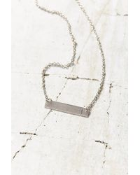 Urban Outfitters | Metallic Silver Initial Bar Necklace | Lyst