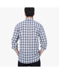James Perse   Blue Super Fine Plaid Shirt for Men   Lyst