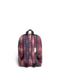 Herschel Supply Co. Purple 'Heritage' Polka Dot Plaid Kids Backpack