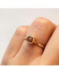 Melissa Joy Manning | Metallic 1.04 Carat Rough Red Diamond Chunk Ring | Lyst
