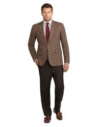 Brooks Brothers Brown Madison Fit District Check Sport Coat for men