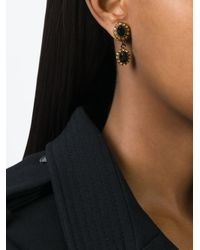 Givenchy - Black Dropped Gemstone Earrings - Lyst