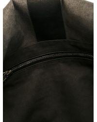Rick Owens - Gray Geometric Panel Shoulder Bag - Lyst