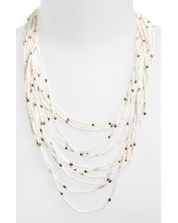 Panacea | White Seed Bead Multistrand Necklace | Lyst
