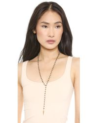 Heather Hawkins | Gray Day Tripper Necklace - Pyrite | Lyst
