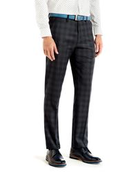 Ted Baker - Blue Yonktro Checked Wool Trousers for Men - Lyst