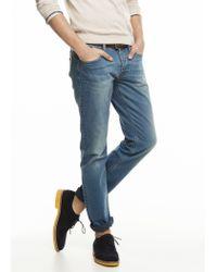 Mango - Blue Slimfit Premium Medium Wash Steve Jeans for Men - Lyst