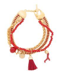 Henri Bendel - Red East Hampton Charm Bracelet - Lyst