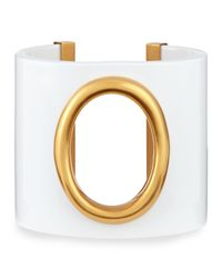 Tory Burch | Metallic Cutout-Oval Resin Cuff | Lyst