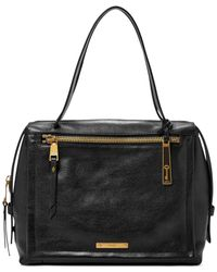 Fossil | Black Bella Leather Large Satchel | Lyst