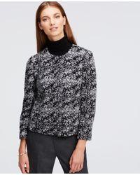 Ann Taylor | Black Petite Marled Wool Blend Cropped Jacket | Lyst