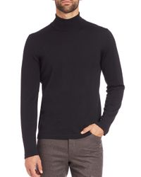 Saks Fifth Avenue | Black Merino Wool Turtleneck Sweater for Men | Lyst